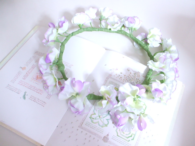 スイトピーの花冠